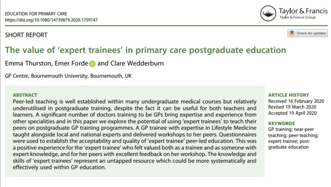 expert trainees paper