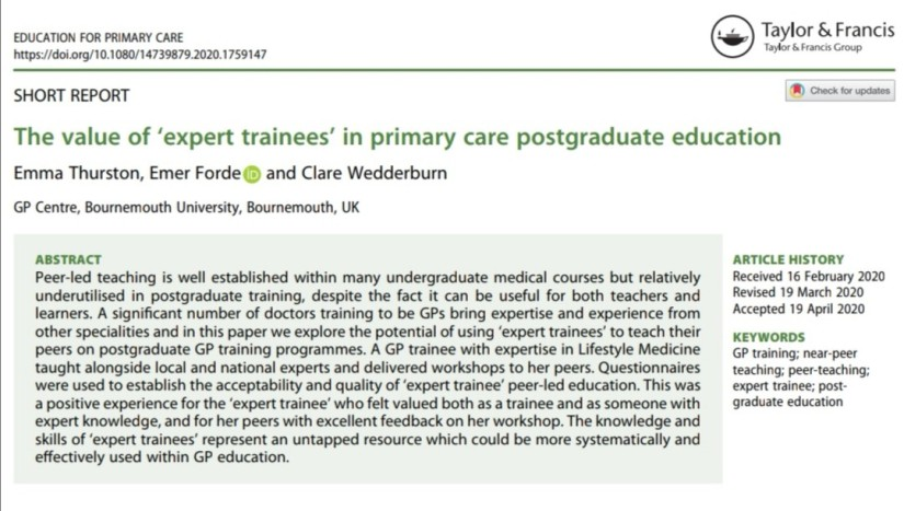expert trainees paper